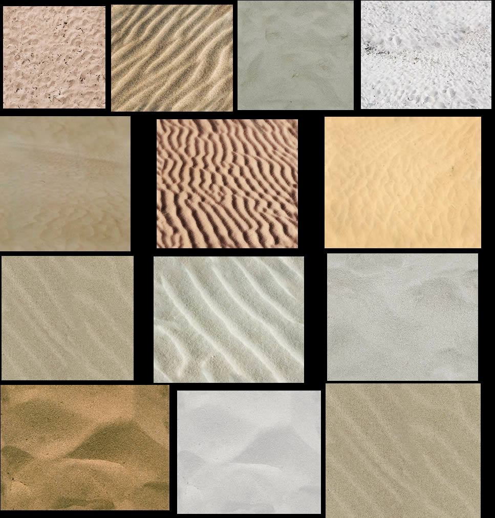 Texturas de arena, en Arena – Texturas