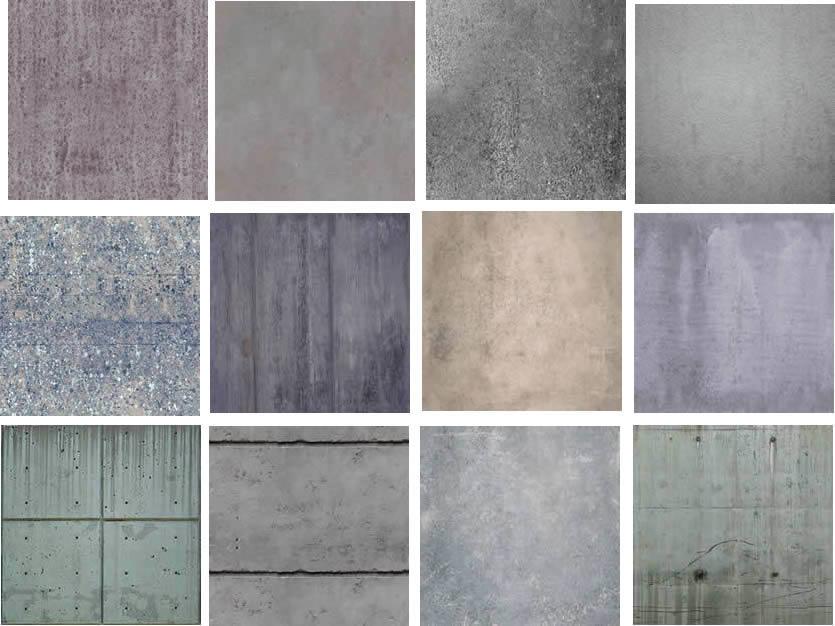 Texturas de concreto, en Fotografías para renders – Personas