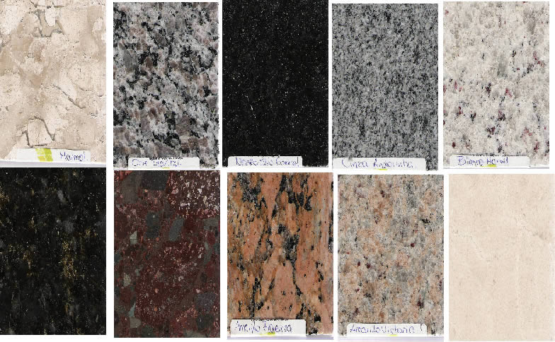 imagen Texturas de granito, en Pisos graníticos y porcelanatos - Texturas