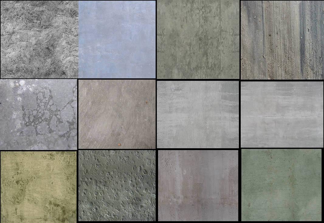 Texturas  de hormigon, en Hormigón – mapas de bits – Texturas