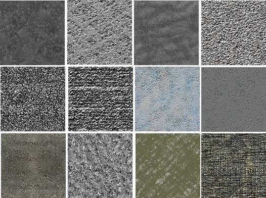 Planos de Texturas hormigon, en Hormigón – mapas de bits – Texturas