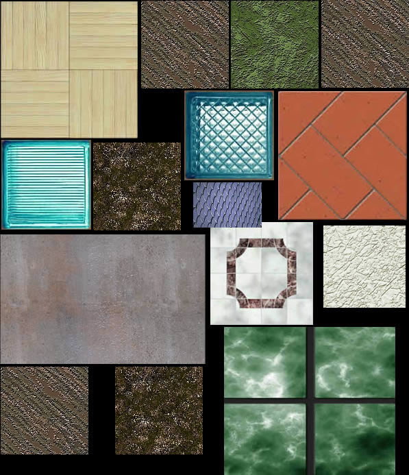 Texturas varias, en Pisos cerámicos – Texturas