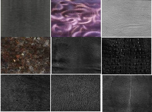 Texturas varias quinta parte, en Pisos varios – Texturas