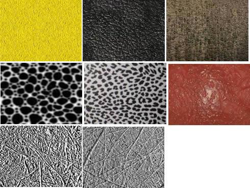 Texturas varias tercera parte, en Tapizados – Texturas