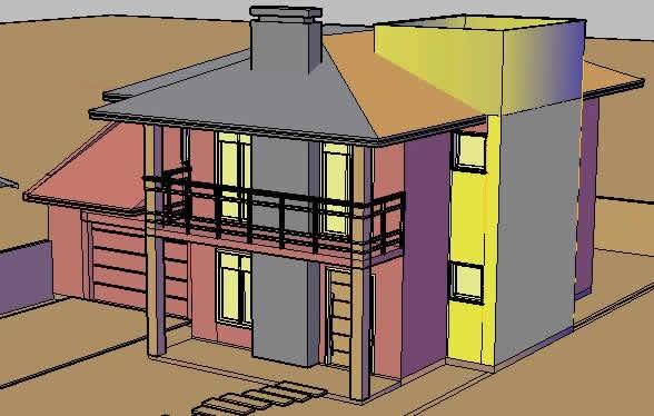 imagen Planos de 3d de residencia en DWG AUTOCAD, Vivienda unifamiliar 3d - Proyectos