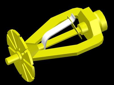 imagen 3d sprinkler esfr (3d rociador esfr) en DWG