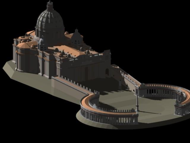 Planos De Basilica De San Pedro. Roma 3d En DWG AUTOCAD