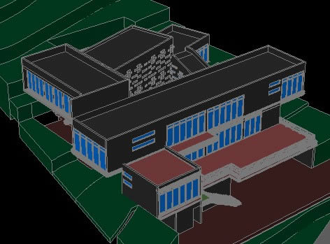 Planos de casa habitacion en 3d en dwg autocad vivienda for Casa minimalista planos dwg