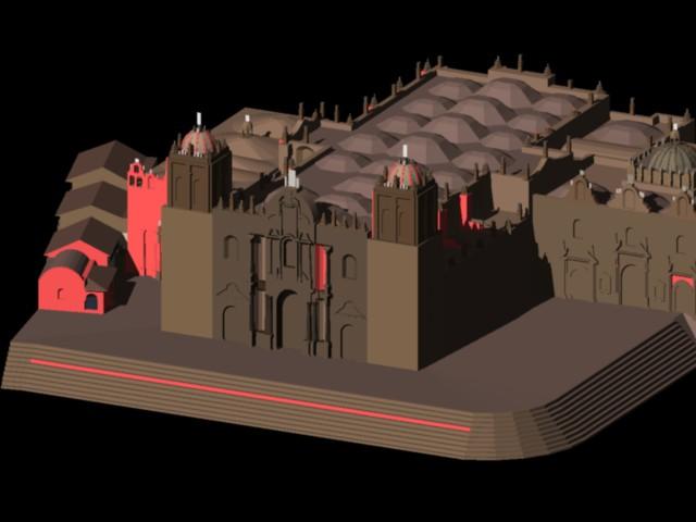 imagen Planos de Catedral de cusco 3d en DWG AUTOCAD, Arq. religiosa - Proyectos