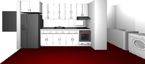 imagen Planos de Cocina amoblada en DWG AUTOCAD, Cocinas - Muebles equipamiento