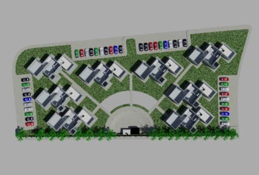imagen Planos de Conjunto de casas 3d en DWG AUTOCAD, Vivienda multifamiliar - condominios - Proyectos