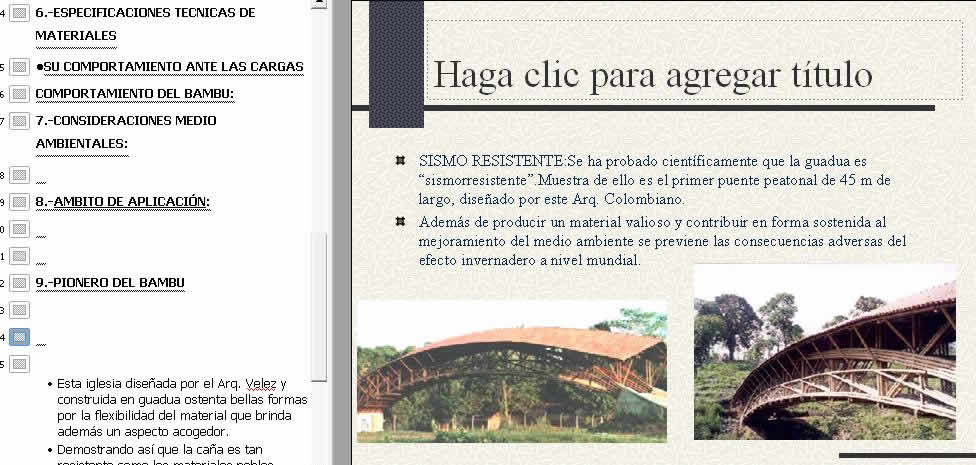 imagen Planos de El bambu en PDF , Monografías guías y estudios varios - Varios