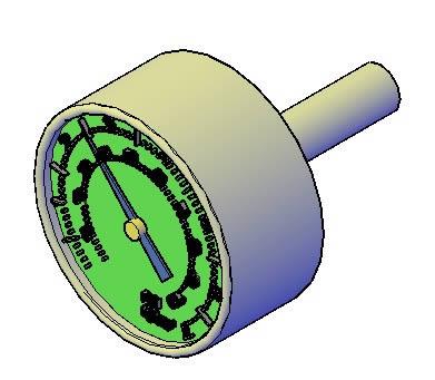 imagen Planos de Manometro 3d en DWG AUTOCAD, Maquinaria - proyectos varios - Máquinas instalaciones