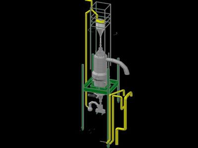 imagen Planos de Reactor de proceso midrex en DWG AUTOCAD, Industria minera - Máquinas instalaciones