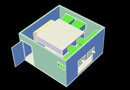 imagen Planos de Unidad condensadora 3d en DWG AUTOCAD, Aire acondicionado - Climatización