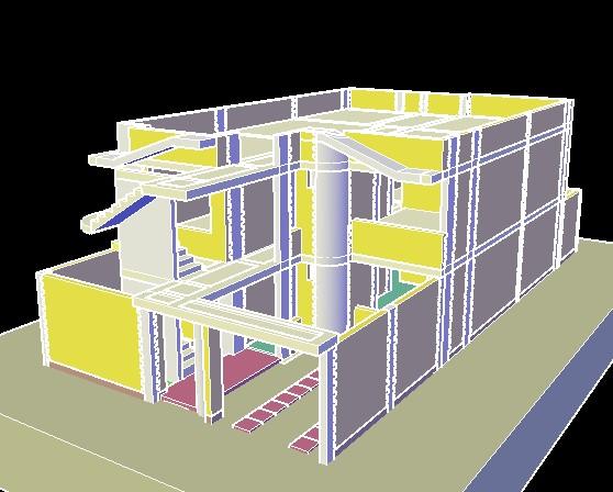 imagen Planos de Vivienda unifamiliar 3d en DWG AUTOCAD, Vivienda unifamiliar - Proyectos