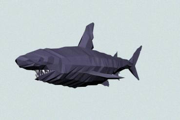 Tiburon, en Animales 3d – Animales
