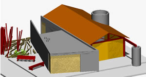 Planos de Tienda taller comunal, en Talleres – Proyectos