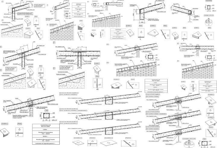Tipos de armado para losas y detalles constructivos en - Tipos de cubiertas inclinadas ...