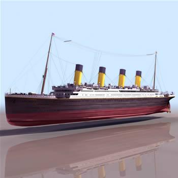 imagen Titanic realista, en Embarcaciones - Medios de transporte