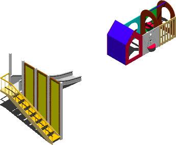 Tobogan y construccion 3d para niños, en Jardín de infantes – Muebles equipamiento