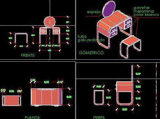 Planos de Tocador, en Baños – Muebles equipamiento