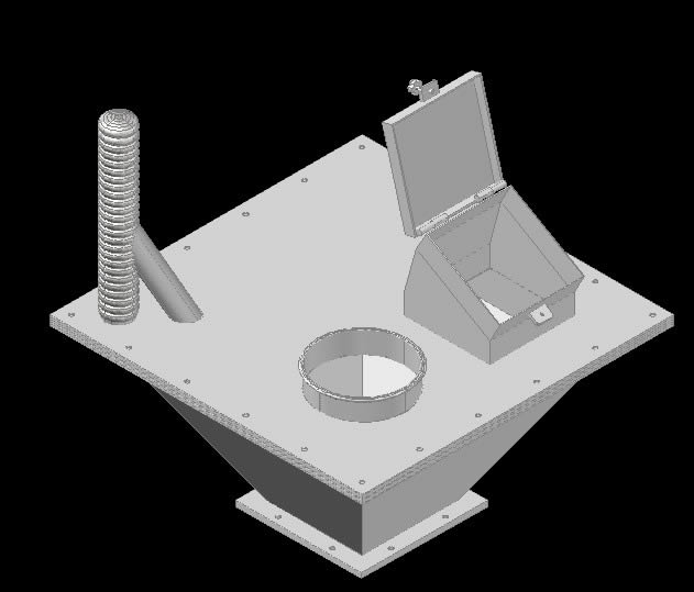Planos de Tolva 3d, en Maquinaria para industria de la alimentación – Máquinas instalaciones