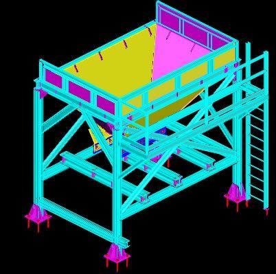 Planos de Tolva aridos, en Industria minera – Máquinas instalaciones