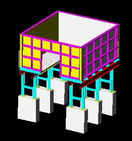 imagen Tolva descarga de aridos 3d, en Plantas industriales - Proyectos