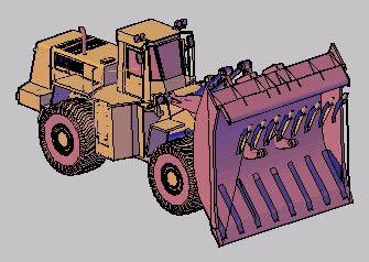 Planos de Topadora cargadora. 3d, en Camiones – Medios de transporte