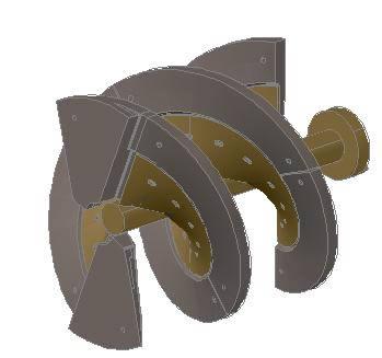 imagen Tornillo molino vertical 3d, en Válvulas tubos y piezas - Máquinas instalaciones