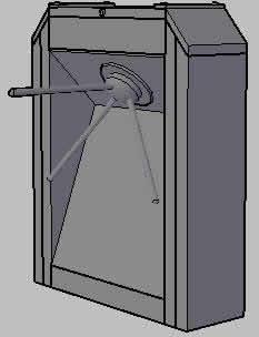 Planos de Torniquete 3d, en Seguridad y control de acceso – Muebles equipamiento