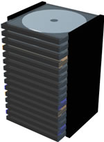 Torre cds, en Informática – Muebles equipamiento