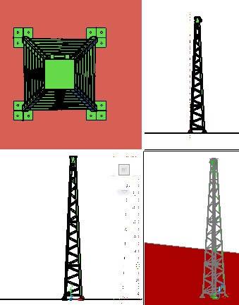Planos de Torre de acero para transporte electrico, en Telecomunicaciones – Infraestructura