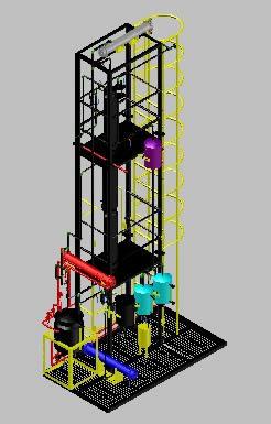 imagen Torre de destilacion, en Maquinaria para industria de la alimentación - Máquinas instalaciones