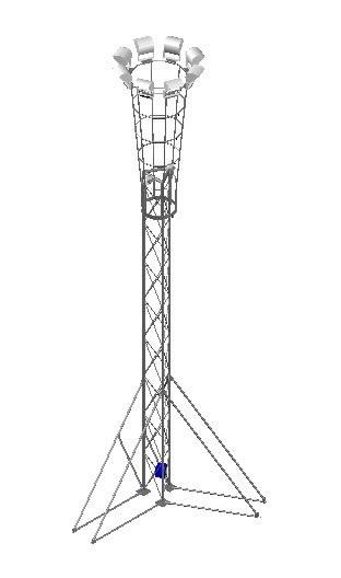 Planos de Torre de iluminacion transportable 3d, en Alumbrado publico – Infraestructura