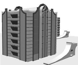Planos de Torre millenia – modelo en 3d, en Vivienda multifamiliar – condominios – Proyectos