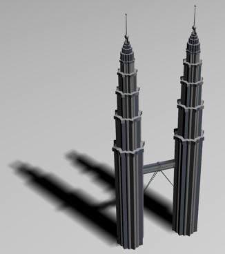 Torres petronas 3d, en Obras famosas – Proyectos