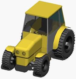 imagen Tractor rural 3d, en Utilitarios - Medios de transporte