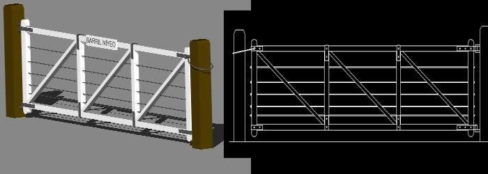 Planos de Tranquera cantabrica 3d, en Portones – Aberturas