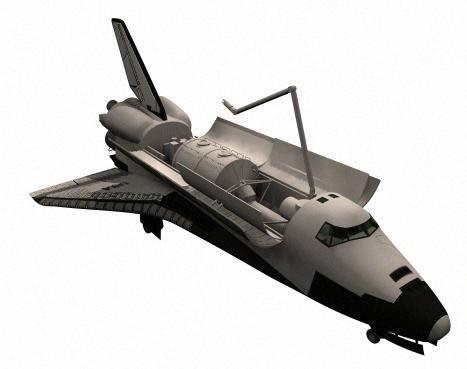 Transbordador espacial, en Aeronaves en 3d – Medios de transporte
