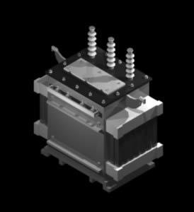 Planos de Transformador 127 volt. 3d detalle, en Tendidos electricidad – Infraestructura