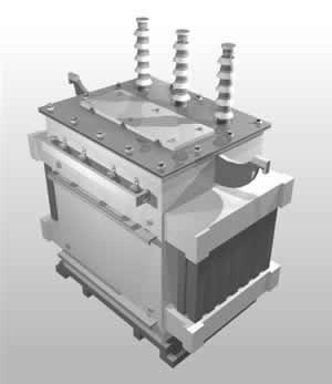 Planos de Transformador trifasico-3d, en Electricidad – Instalaciones