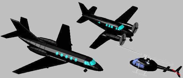 Planos de Transporte aereo 3d, en Aeronaves en 3d – Medios de transporte