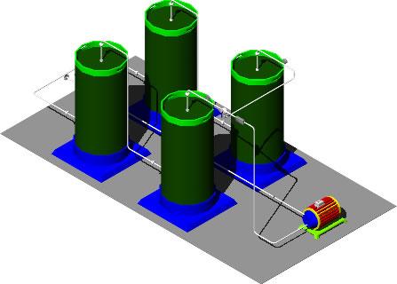 Planos de Treatment plant, en Plantas depuradoras – Infraestructura