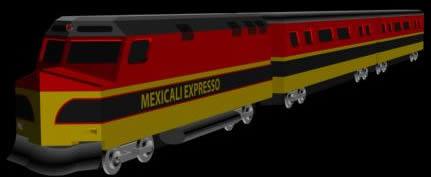 imagen Tren 3d, en Ferrocarriles - Medios de transporte