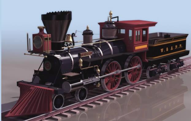 Planos de Tren 3d, en Ferrocarriles – Medios de transporte