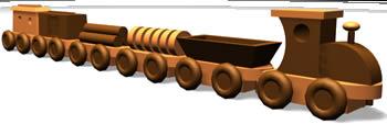 Tren de madera – juguete, en Juegos – Muebles equipamiento