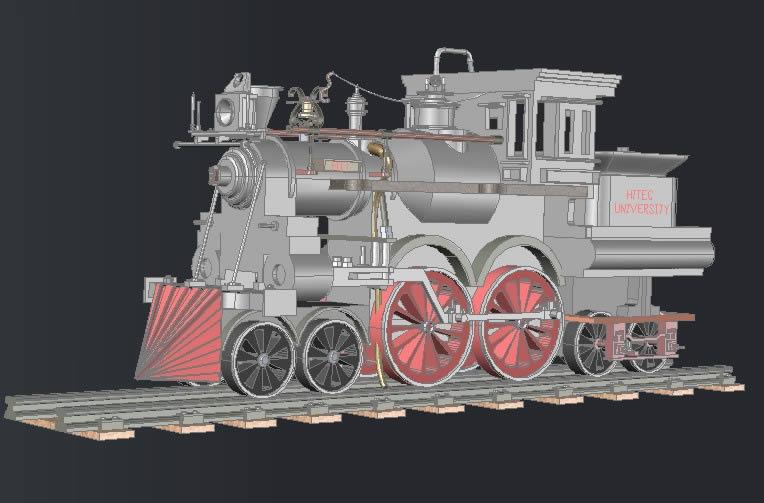 imagen Tren de vapor engin, en Ferrocarriles - Medios de transporte