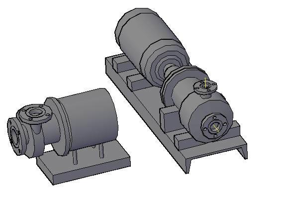 Planos de Tres archivos en 3d-bombas centrifugas-tanques conicos; horizontal; vertical-intercambiador de calor, en Equipos de bombeo – Máquinas instalaciones